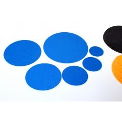 Klangschalenpad aus Merino-Wollfilz 25 cm in Blau