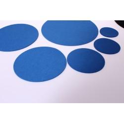 Klangschalenpad aus Merino-Wollfilz 25 cm, blau