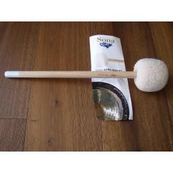 Hochwertiger Sona Teddyfell-Klöppel für Gongs Grösse 2 dünner Stiel grau