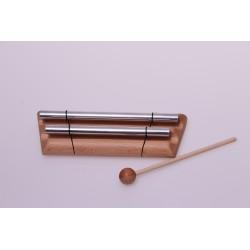 Klangstab doppelt,  Metall auf Holz