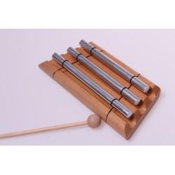Klangstab Dreiklang,  Metall auf Holz
