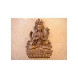 Klangschale mit dreidimensionalem Buddha