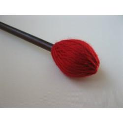 Garnklöppel mit langem Stiel, hart,rot