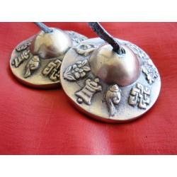 Zimbeln mit Tibetischen Mantra 6 cm